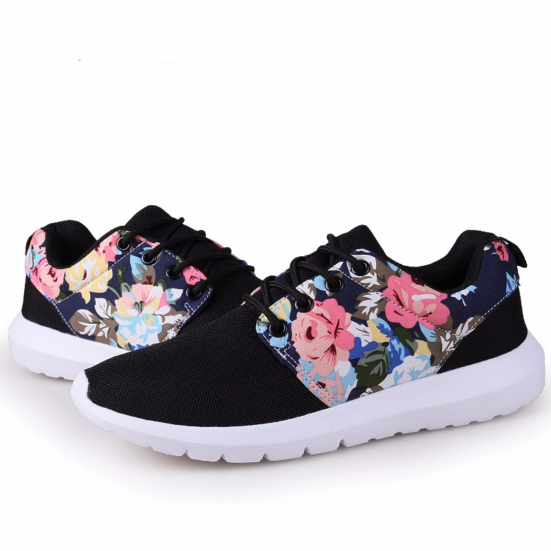 KUYUPP Fashion Breathable Print Flower Women Trainers Casual Shoes 2016 Summer Mesh Low Top Shoes Zapatillas Deportivas YD95 (47)