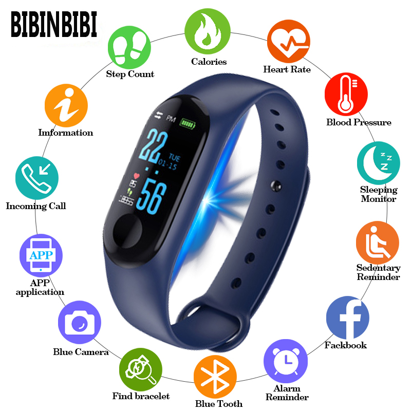 2019 Digital Watch Men Women Smart Wrist Watches Blood Pressure Sleep Heart Rate Monitor Smart Band Bracelet Waterproof