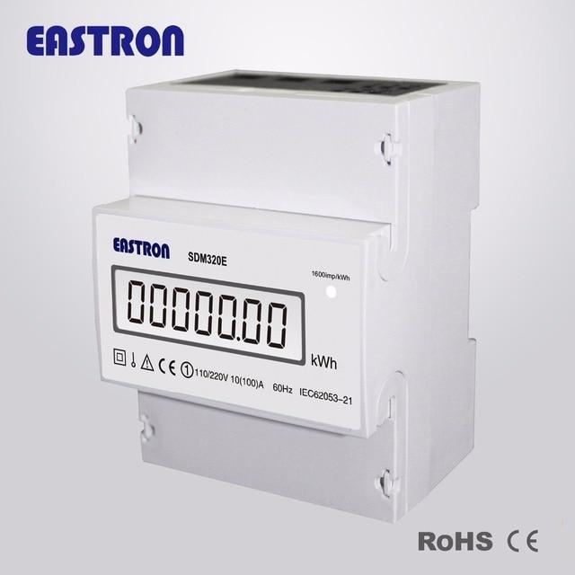 SDM 320E, single/Zwei phase drei draht kWh meter, 110 V, 10 (100 ...