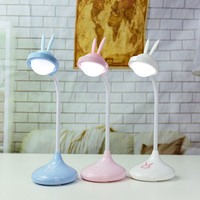 New Style Rabbit LED Night Light 3 Color Silicone Touch Control 360 Degree Adjustment For Children