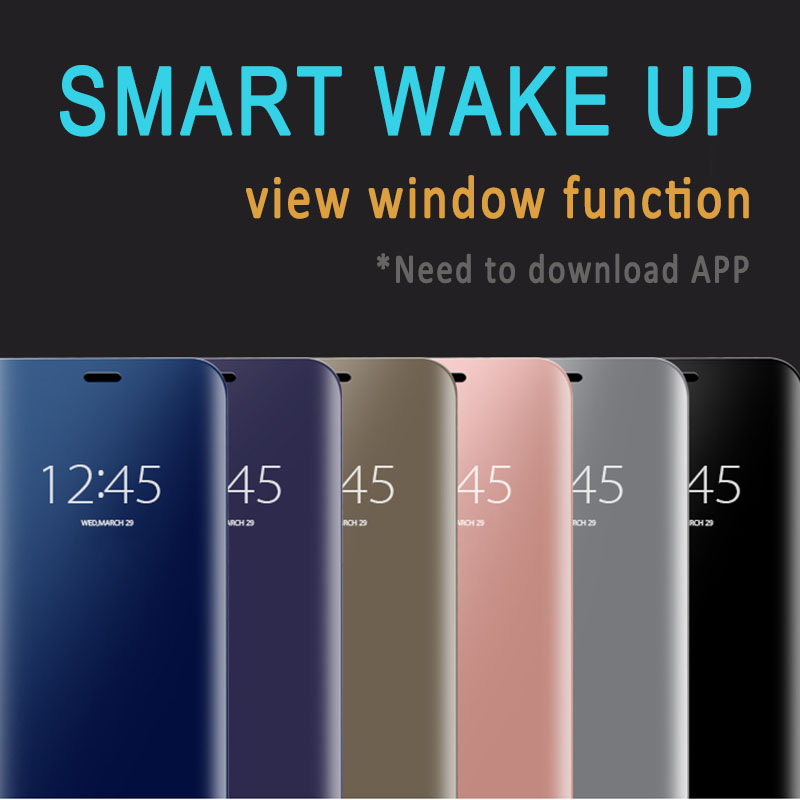 Us 3 99 10 Off Clear View Window Mirror Smart Flip Stand Phone Case For Samsung Galaxy S7 S6 Edge S8 S9 Plus Note8 J5 J7 2017 Case Eu Version In