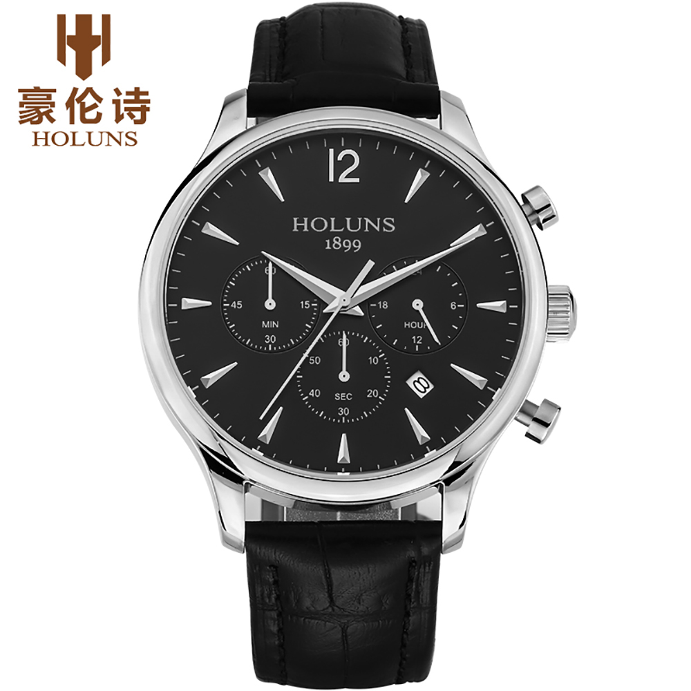 HOLUNS Waterproof Mens Watches Top Brand Luxury 24 hour Date Quartz Watch Man Leather Sport Wristwatch for Male Clock           HOLUNS Waterproof Mens Watches Top Brand Luxury 24 hour Date Quartz Watch Man Leather Sport Wristwatch for Male Clock