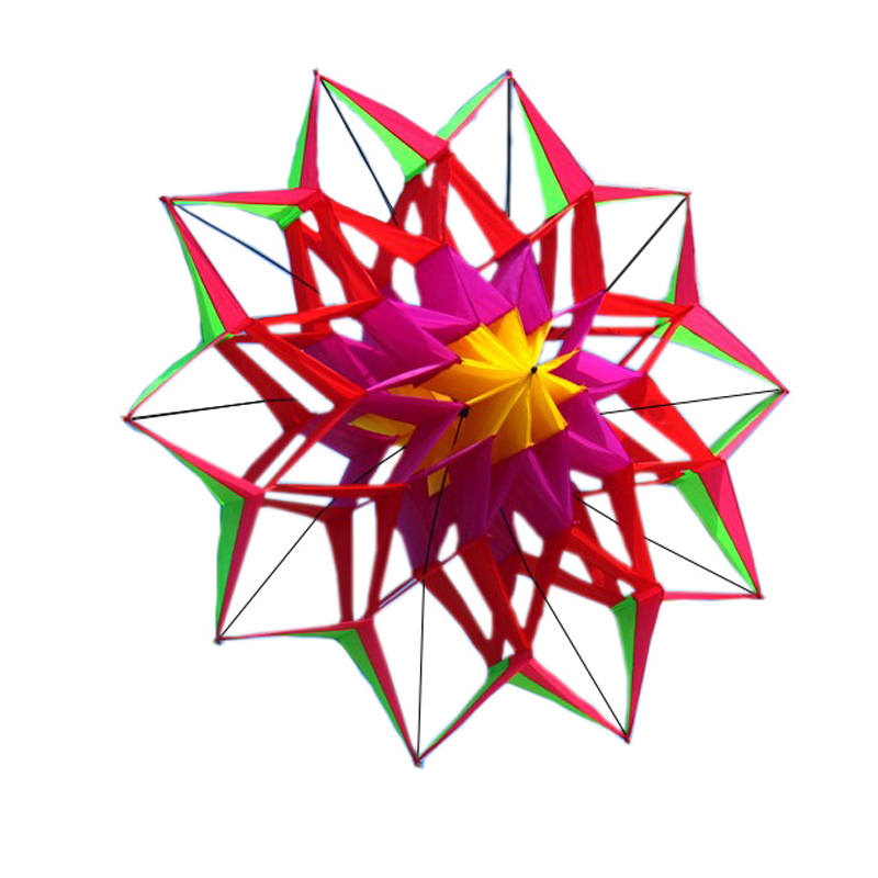 Layang-layang Bunga Teratai 3D Baru Berkualitas Tinggi Dengan Pegangan Dan Jalur Factory Outlet Terbang Baik