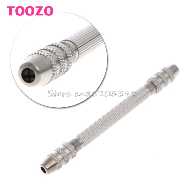 Steel Double Spiral End Pin Vise Tong For Jewelry Craft Hobby Drill Tool Useful G08 Drop ship щипцы remington ci76 pro spiral curls tong 19мм керам
