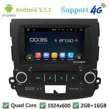Quad Core 8″ 1024*600 Android 5.1.1 Car DVD Player Radio Stereo BT FM DAB+ 3G/4G WIFI GPS Map For Mitsubishi Outlander 2006-2012