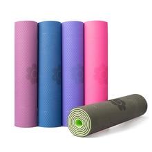 Yoga Mat Single double color Non-slip TPE Exercise Sport Pilates Mat for Fitness Gym Home Tasteless Pad 6mm/8mm