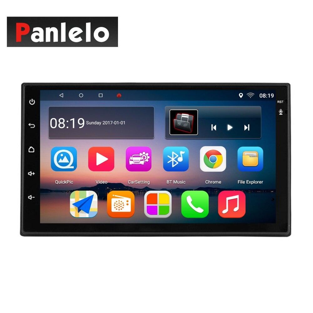 Panlelo S10/S10 Plus 2 Din Android 8 unité de tête voiture stéréo GPS Navigation Radio de commande au volant (AM/FM) 1G/2G RAM 16G/32G