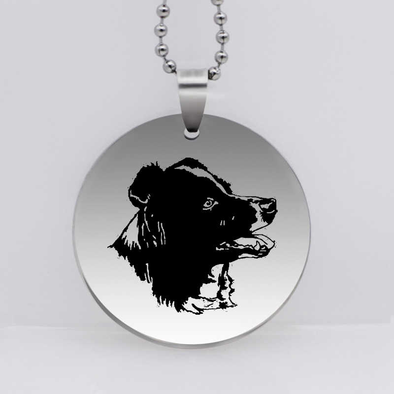 PAW PRINT Stainless Steel Border Collie Dog Pendant Necklace Animal Necklace Pet Jewelry for Women Gift Drop Shipping YLQ6274