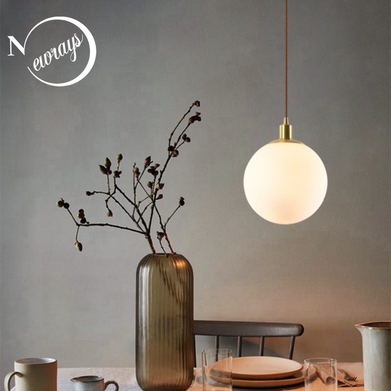 Modern loft brass glass ball pendant lamps E27 LED single head hanging light for kitchen parlor bedside study aisle hotel roomModern loft brass glass ball pendant lamps E27 LED single head hanging light for kitchen parlor bedside study aisle hotel room