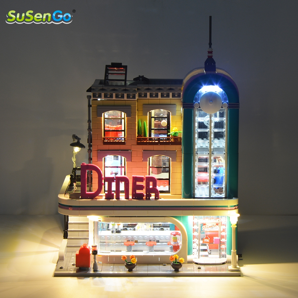 SuSenGo Led Light Kit (Not Include Model) For The Downtown Diner Building Blocks Lighting Set 15037 Compatible With 10260 improved quality spring balancer for hanging wrench screwdriver tools not include the custom tax