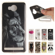 Silicone Phone Case for Huawei Y3 II 2 Coque Vintage Tribe Floral Tiger Lion Panda Soft TPU Back Cover for Huawei Y3II Y 3 II 2
