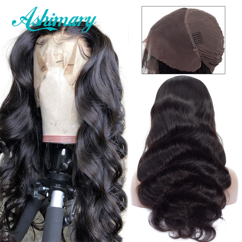 Lace Front Human Hair Wigs 13X4 Pre Plucked Natural Hairline Remy Body Wave Lace Front Wigs For Black Women Ashimary Hair
