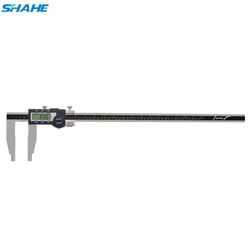 Shahe 600 mm digital vernier caliper eletrônico de aço paquimetro ferramentas medição digital messschieber caliper calibre