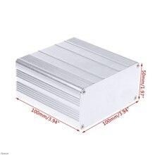 DIY алюминиевый корпус Чехол электронный проект PCB ящик для инструментов 100x100x50 мм Damom