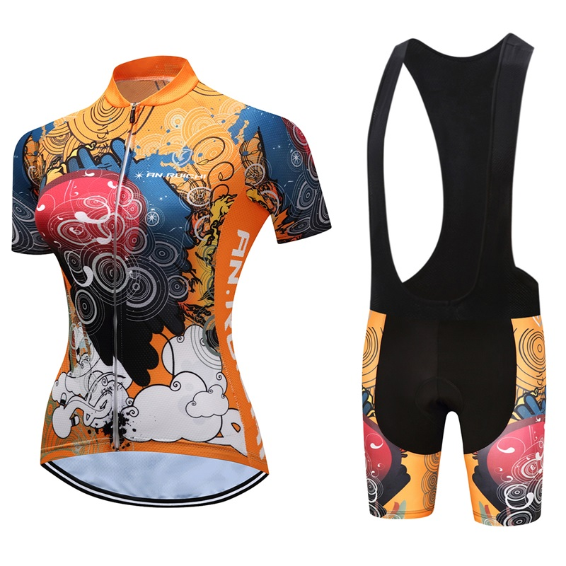 2018 new pro team cycling jersey set kits women summer bike clothes MTB Ropa Ciclismo Bicycle maillot Quick Dry 9D Gel Pad
