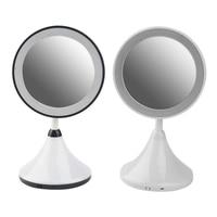 New Design Simple Make Up Mirror with LED Light Table Lamp Desktop Black White Make up Tools