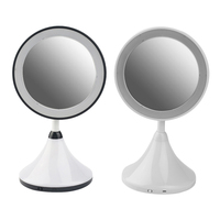 New Design Simple Make Up Mirror with LED Light Table Lamp Desktop Black White Make up Tools