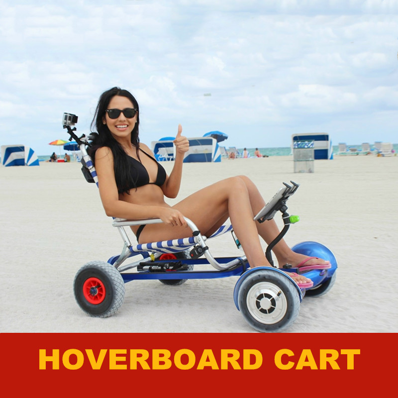 Hoverboard Cart For 6.5 10 Hoverboard Self Balance Scooter E-scooter Sitting Attachment Go Kart Seat Hover board Accessorories(China)