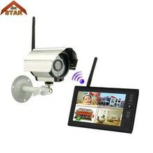 """Stardot """" на тонкопленочных транзисторах на тонкоплёночных транзисторах ЖК-дисплей DVR монитор 2,4 ГГц цифровой 1Cam комплект IP66 поддержка 32G Беспроводной 4CH CCTV камера видеонаблюдения наблюдения Системы"""