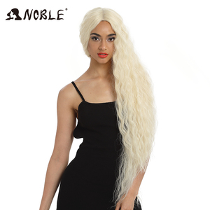 Image 5 - Noble Cosplay Synthetic Lace Front Wig Long Wig Cosplay Curly 42 Inch Ombre Blonde color Wig  Synthetic Lace Front Wig For Women