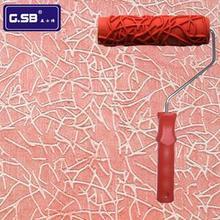 """"""" дюймовый рубиновый валик с рисунком для украшения стен инструменты № 101 модель малярный валик для рельефа украшения стен"""