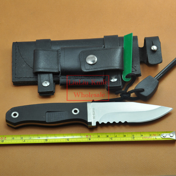 Hot! camping straight knife blade material ATS-34 Blade +VG10 handle 59HRC hunting knife outdoor Tools with Leather Sheath  цены