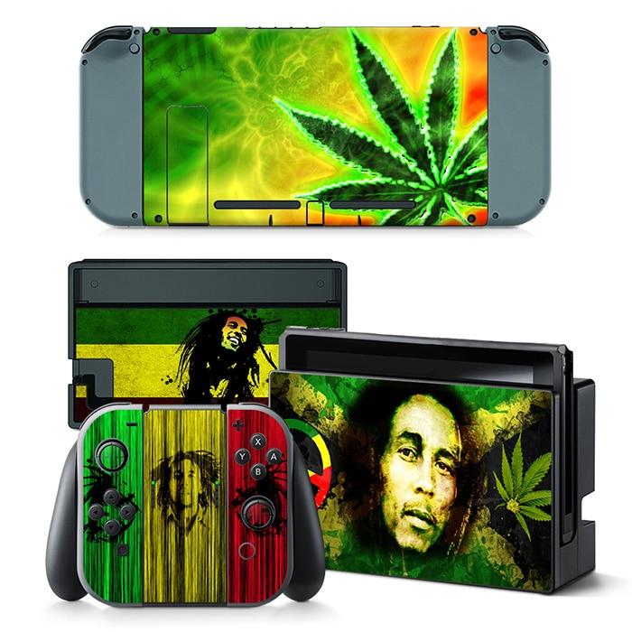 Sticker Nintendo Switch Bob Marley Cannabis