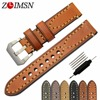 Thick Real Leather Watch Strap 26mm 24mm 22mm 20mm Green Brown Grey Metal Pin Buckle Relogio