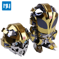 MU Little Yellow Bee Exclusive Design Autobots Can Change Head Puzzle Toys 3D Metal Assembly Model