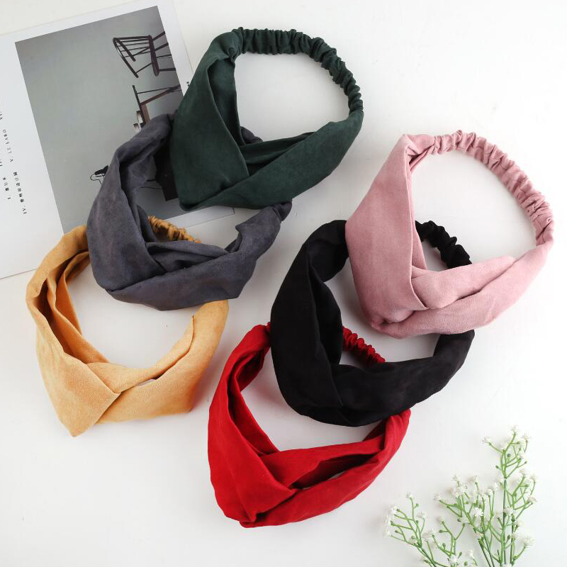 2019 Lady Headdress Plaid Bow Headband Turban Elastic Headwear Head Wrap Women Hair Accessories For Women Striped Hair Bands