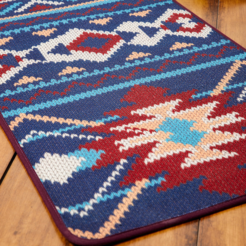 Aliexpress Buy Novelty Iber Door MAT Rug Porch Patio Floor Decor Living Room Carpet Mat Indian Geometric Aztec Trible Pattern 50x120cm From Reliable