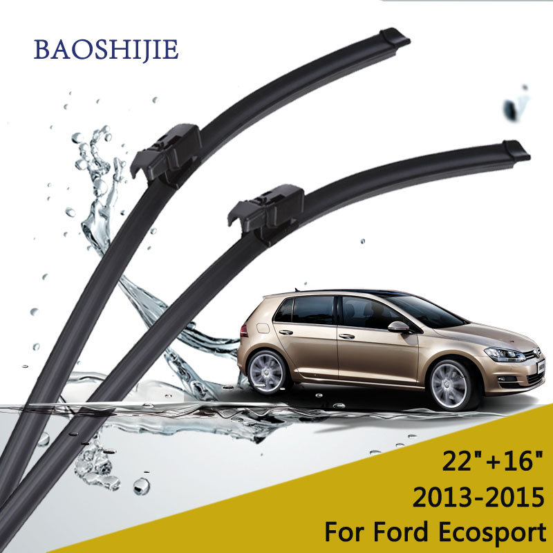 Wiper blades for Ford Ecosport (2013 - 2015) 22+16 fit top lock type wiper arms only HY-F12 wiper blades for ford s max 30