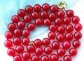 10mm naturliche rot Jade Halskette 86cm