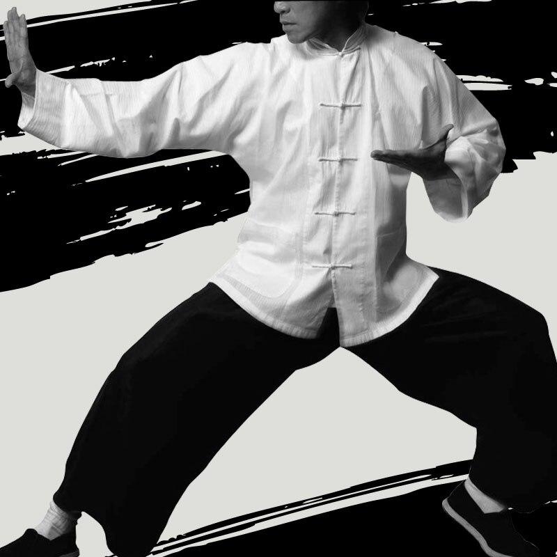 Bruce Lee Vintage Ala Cinese Chun Kung Fu Uniformi Di Arti Marziali Tai Chi Abiti Classici Giacca Di Cotone Superficie Lucente