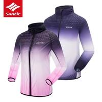 Santic Cycling Jacket Ultralight Portable Men Women Bike Jacket Anti UV Sunscreen MTB Road Bicycle Jacket