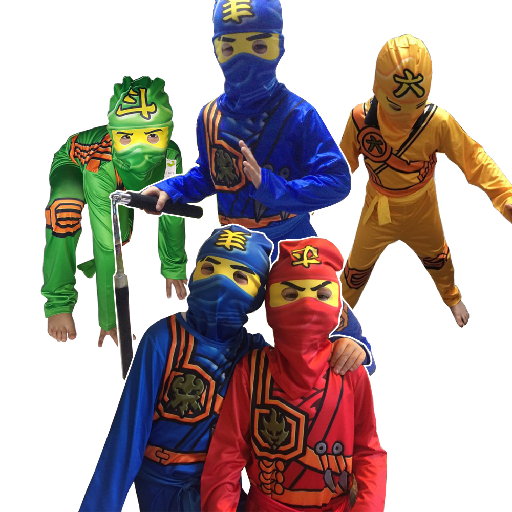 Legoo Ninjago Cosplay Costumes Boys Jumpsuits Sets 3PCS/SET Halloween Christmas Party Clothes Ninja Superhero Streetwear Suits