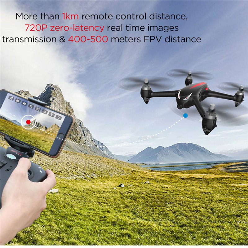MJX b2w ошибка монстра RC Quadcopter бесщеточный Двигатель Drone двойной GPS 1000 м Расстояние Летающие 5 г WI-FI FPV-системы 1080 P камеры ...