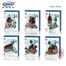 New XingBao 01110 Building Series The 6 in 1 Chinese Suzhou Garden Model Set Building Blocks Bricks Toys For Kids Gifts for 71042 in stock lepin 16042 2344pcs pirate ship series the slient mary set model building kits set blocks bricks toys gift