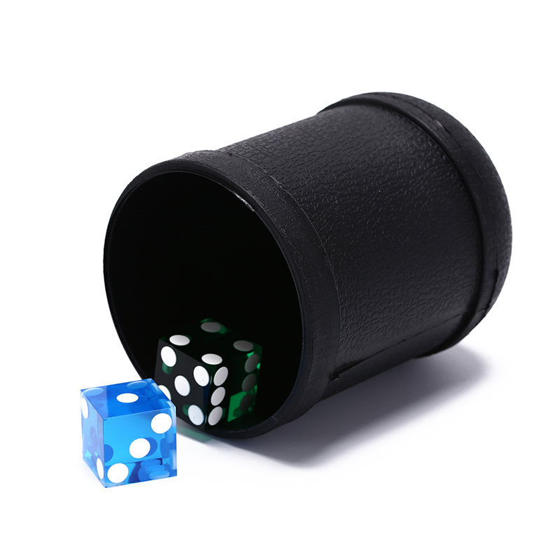 1pc dice cup 7.5Cm X 10Cm Plastic Material Black Game Toy Plastic Dice Cup Shaking Cup