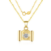 Camera Necklace Pendant Europe And America Selling Sterling Silver Jewelry 925 CZ Zircon Accessories
