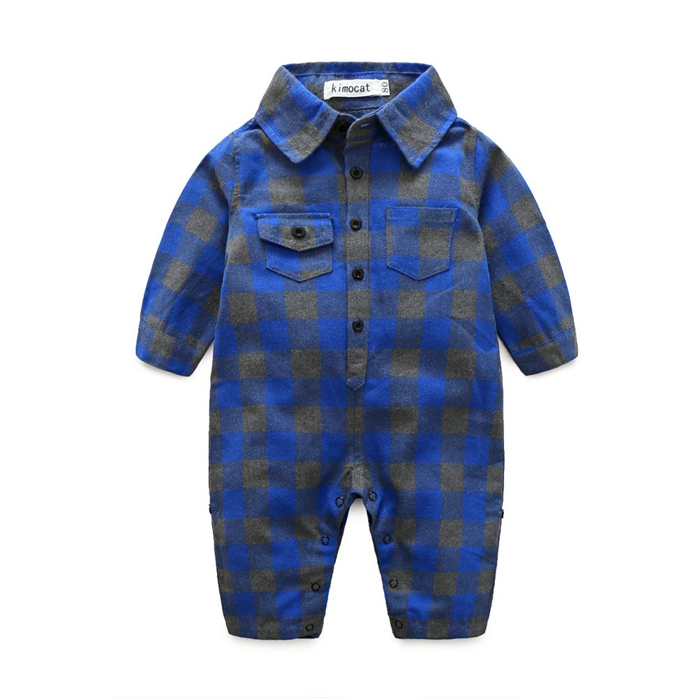 Plaid-bebes-clothes-baby-clothes-long-sleeve-lapel-baby-romper-newborn-cotton-baby-costume-baby-boys-newborn-clothes-4