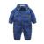 Xadrez roupa do bebê romper do bebê recém-nascido do bebê do algodão de manga longa lapela meninos recém-nascidos do bebê traje roupas