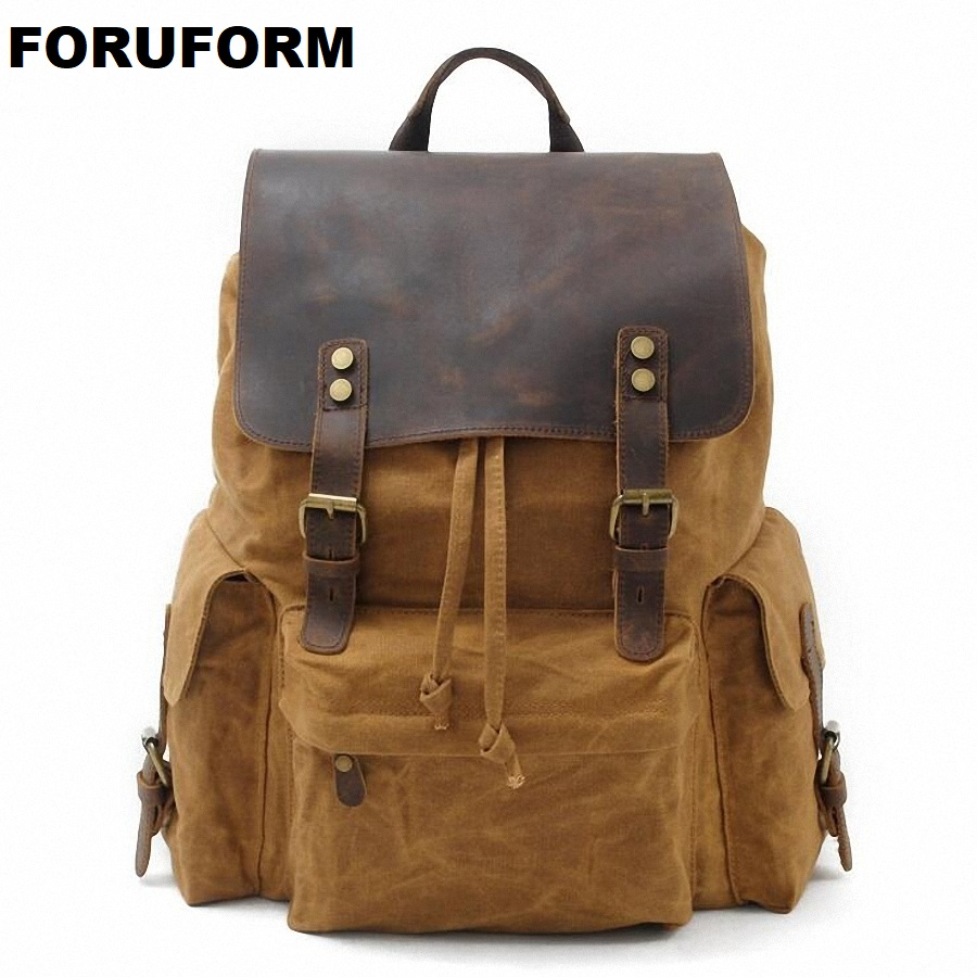 Laptop Backpack Men's Travel Bags 2018 Multifunction Rucksack Waterproof Canvas School Backpack For Teenagers Casual bag LI-1871 подвесной унитаз ifo special rp731300100 page 4