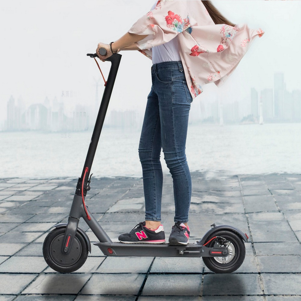 SUPERTEFF EW6 electric scooter 8.5 inch lock function kugoo App dark grey scooter e-scooter LCD display scooter foldable scooter turbine