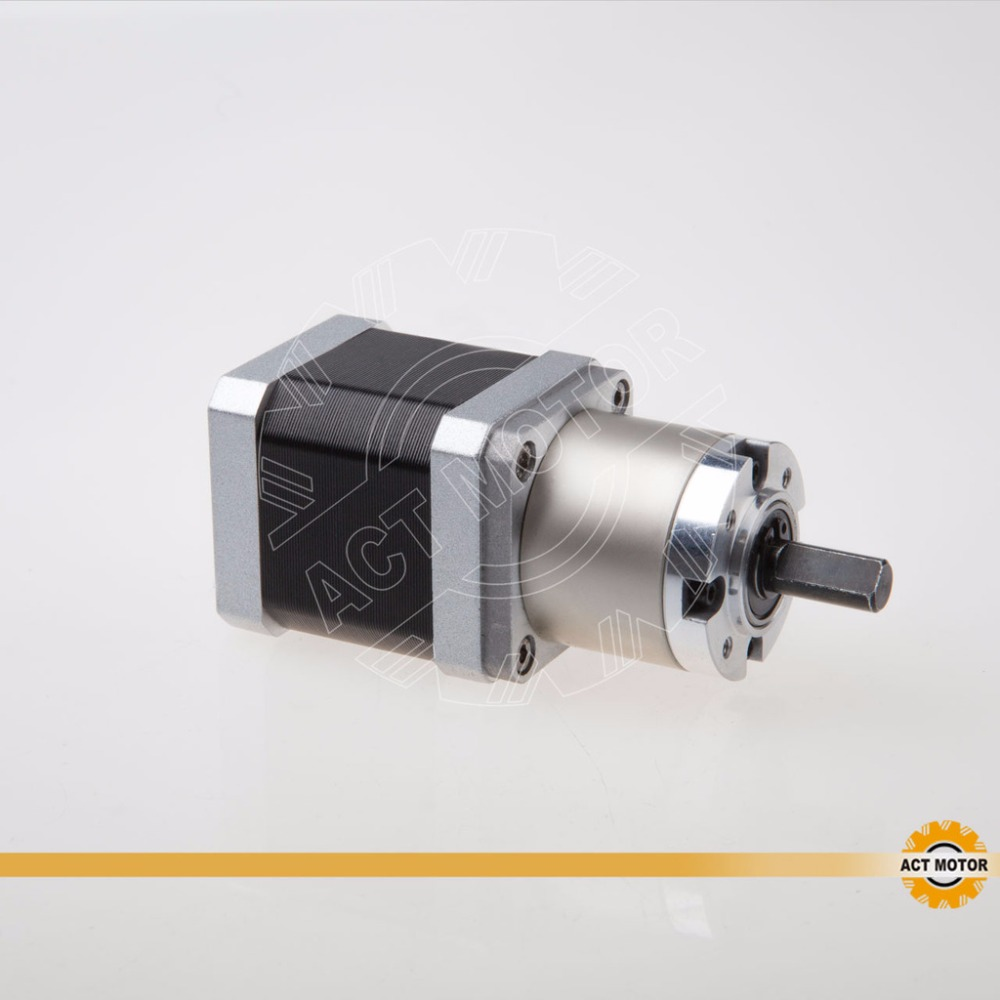 Hot sale ACT 1pc Planetary Gearbox stepper motor Nema 17 1.3A ,40MM, Gear ratio 5.18:1 ,2N.M