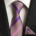 2016 Moda Gravata Corbata Hanky Establece 100% Corbatas De Seda Lazos Cuadrados de Bolsillo para Hombre de Negocios Del Banquete de Boda Del Envío Libre