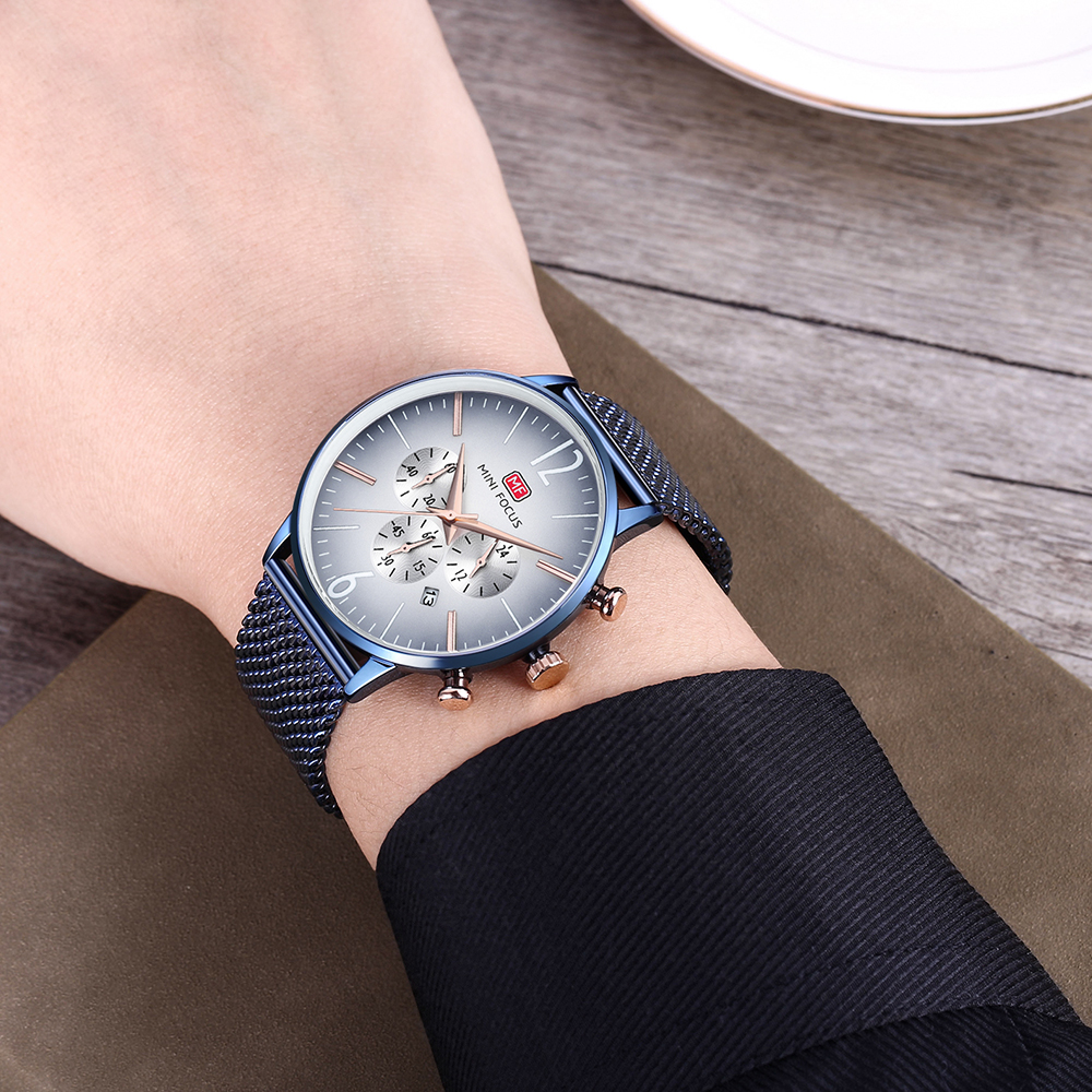 MINIFOCUS Top Brand Fashion Luxury Men Watch reloj de pulsera de - Relojes para hombres - foto 3