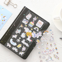 Cute Unicorn Mini Paper Sticker Kawaii Stationery Creative Decoration Diy Ablum Diary Scrapbooking Label Sticker 45 pcs lot cute van gogh oil painting mini paper sticker decoration diy ablum diary scrapbooking label sticker kawaii stationery
