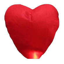 Heart Shaped Sky Lantern Chinese Kongming Lantern Wishing Lamps (Red)