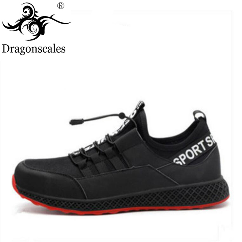 New 2019 Men s Casual Safety Shoes Fashion Steel Toe Cap Work Lightweight Breathable Non slip